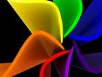 Diseño abstracto 3D de varios colores
