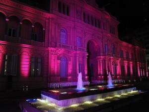 Postal: La Casa Rosada iluminada (Casa de Gobierno Argentino)