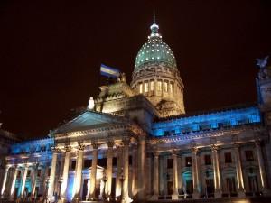 """Postal: Noche en el """"Palacio del Congreso de la Nación Argentina"""""""
