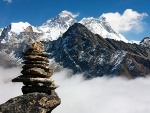 Nubes en el monte Everest, Nepal