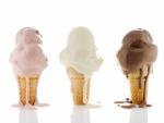Deliciosos helados derritiéndose
