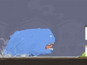 Un gran monstruo azul