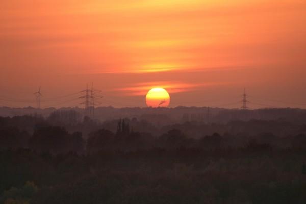 Gran sol al atardecer