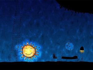Postal: El despertar del sol