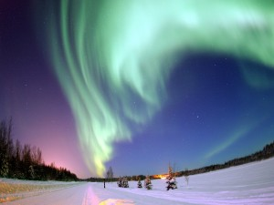 Postal: Espectacular aurora boreal