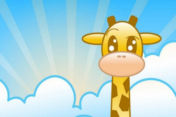Una graciosa jirafa