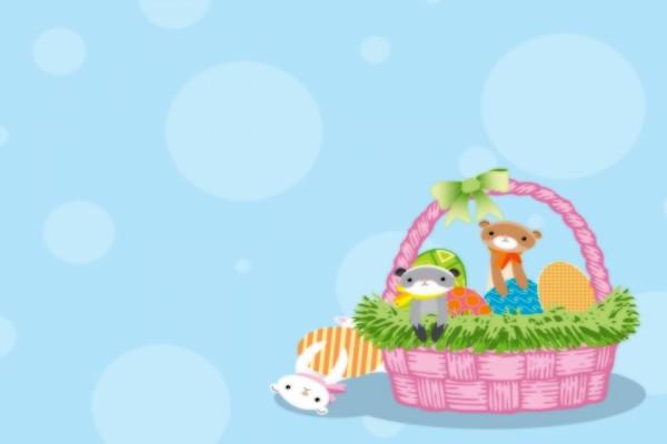 Animalitos en una cesta
