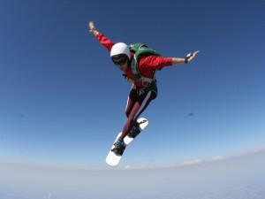 Practicando skysurf