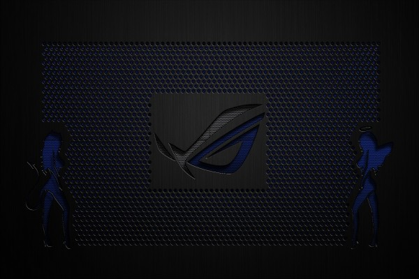 Logo azul de Asus Republic of Gamers