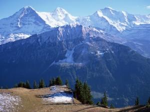 Postal: Admirando las montañas