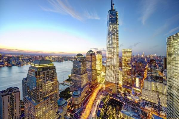 Hermoso panorama de la ciudad de Nueva York