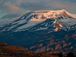 Postal: Bonita mañana en los Andes (Santa Cruz, Argentina)