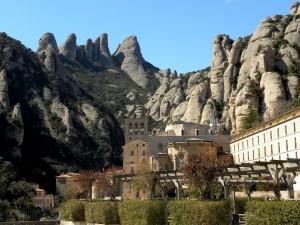 Postal: Maravilloso Monasterio de Montserrat (Barcelona, España)