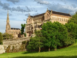 Postal: Palacio de Sobrellano (Cantabria, España)