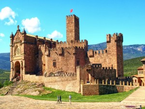 Postal: Castillo de Javier (Navarra, España)