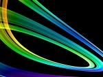 Líneas de colores en un fondo negro