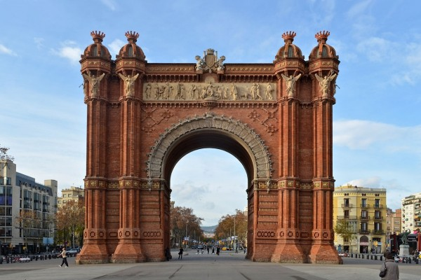 El espectacular Arco de Triunfo de Barcelona