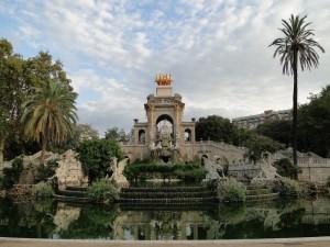 Postal: Fuente del parque de la Ciudadela (Barcelona, España)