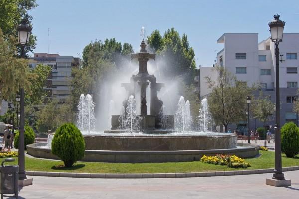 Una fuente en Granada, España