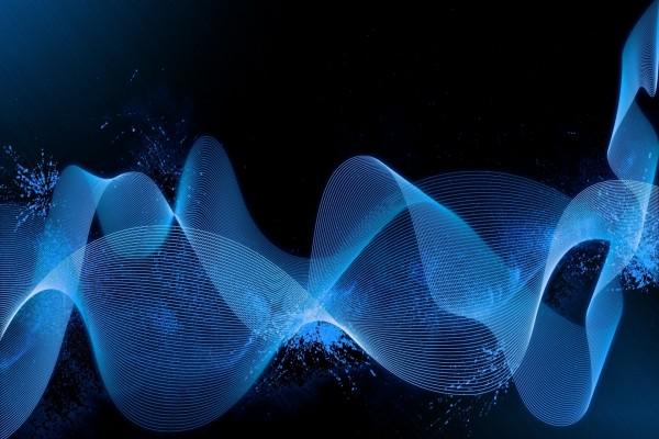 Brillantes ondas azules