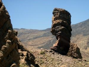 Postal: Roque Cinchado en el Parque Nacional del Teide (Tenerife)