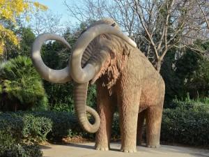 Mamut en el Parque de la Ciudadela de Barcelona
