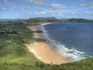 Postal: Bonita playa en Irlanda