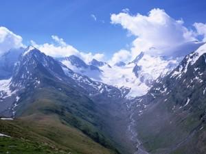 Deshielo en las montañas