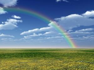 Un gran arco iris