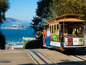 Tranvía en la ciudad de San Francisco (California)