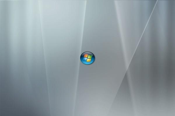 Pequeño logo de Windows en fondo gris