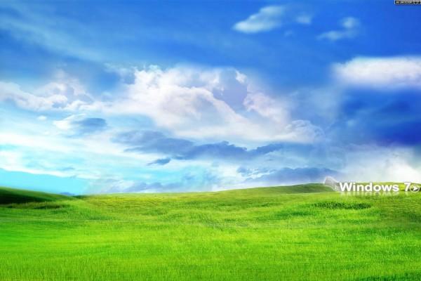 Windows 7 sobre la hierba