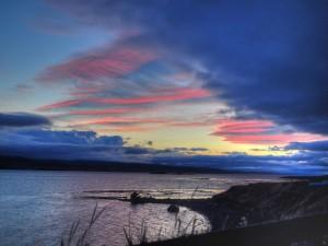 Postal: Cielo de medianoche en Islandia