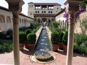 Postal: Jardín del Generalife, Granada
