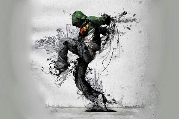 Muchacho bailando en la calle
