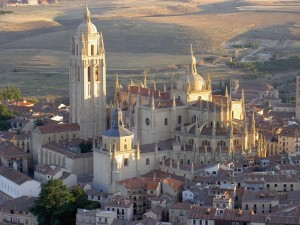 Postal: Catedral de Santa María de Segovia (Segovia, España)