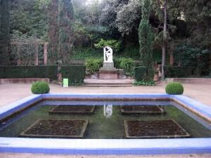 Postal: Jardines de Laribal (Barcelona)