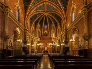 Postal: Vista interior de la Iglesia de San Pedro en Teruel (Aragón, España)
