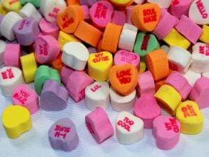 Deliciosos caramelos con forma de corazón