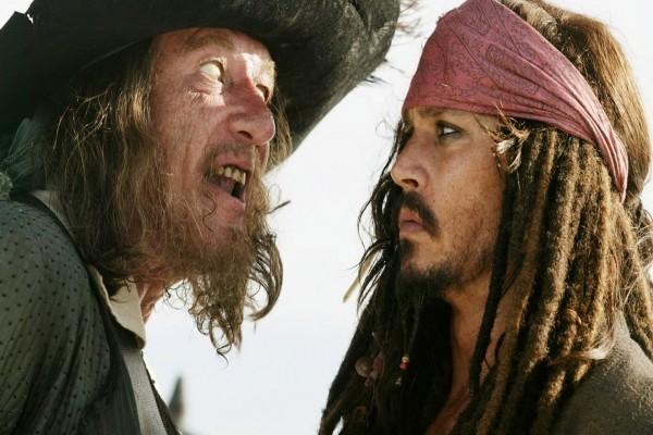 """El Capitán Héctor Barbossa y Jack Sparrow """"Piratas del Caribe"""""""