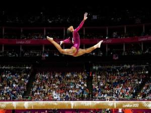 La gimnasta Gabrielle Douglas en los Juegos Olímpicos de Londres 2012