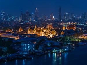 Postal: Noche en Bangkok (Tailandia)