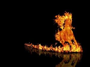 Postal: Caballo de fuego