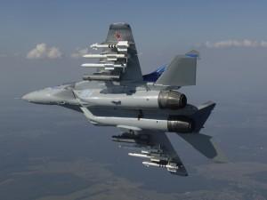 Un impresionante avión Mikoyan MiG-35