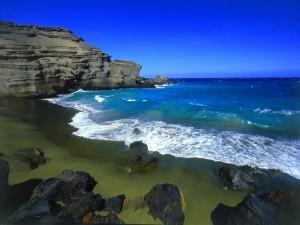 La belleza de una playa natural