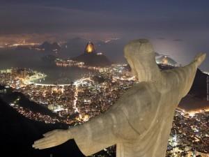 Hermoso paisaje de la ciudad de Río de Janeiro visto desde el Cristo Redentor