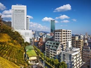 Postal: Vista de la ciudad de Kobe (Japón)