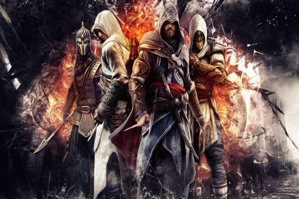 Cuatro personajes de Assassin's Creed