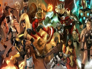 Los superhéroes de los cómics de Marvel