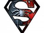 Unión del logo de Superman y Spiderman